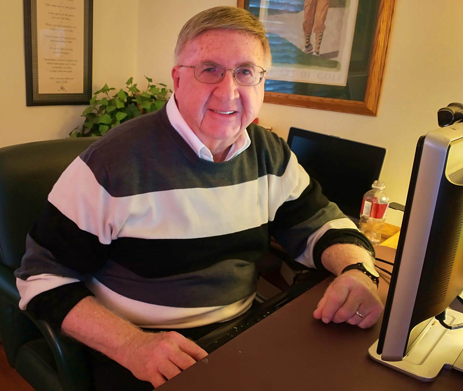 Ken at Computer