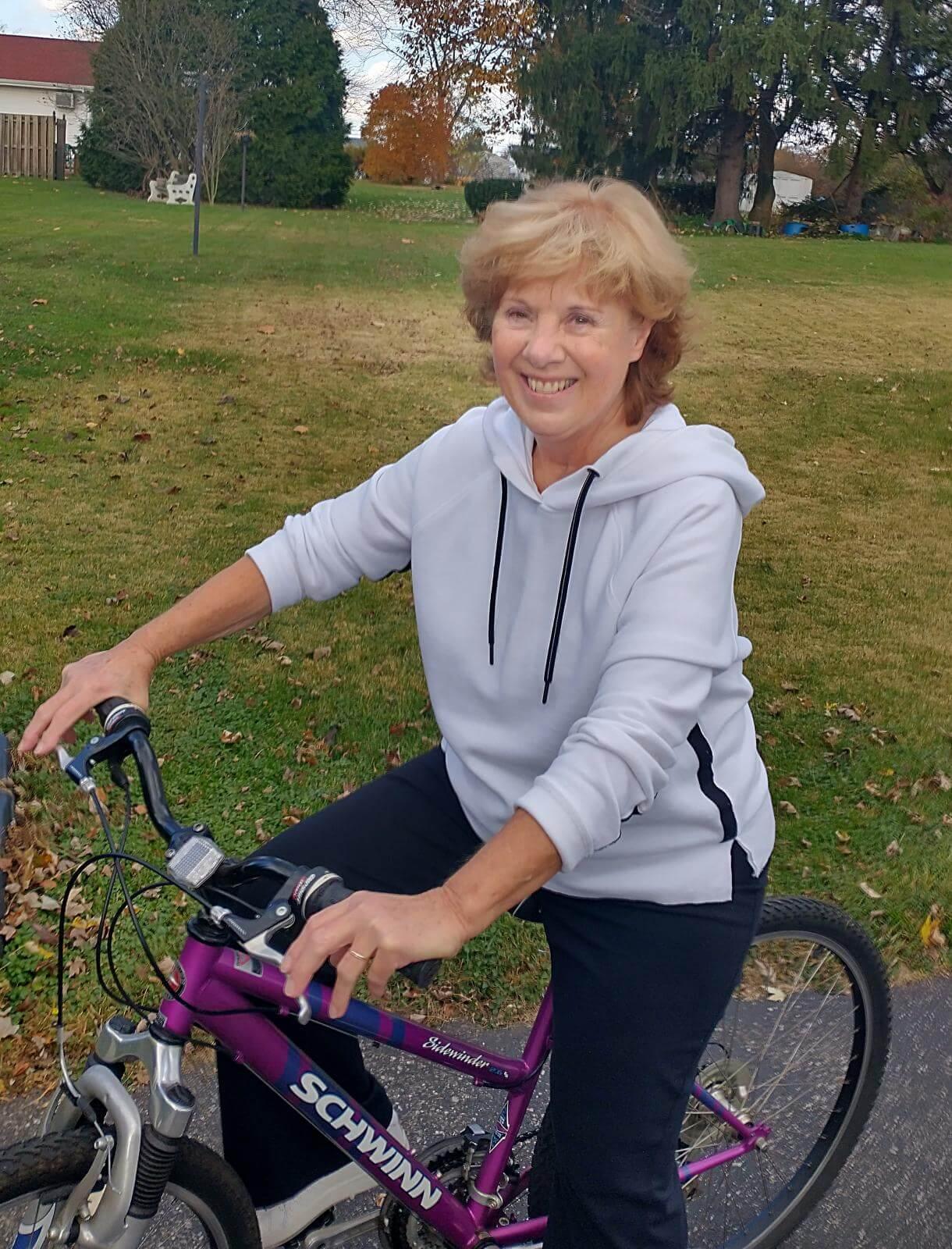 Marianne On Bike